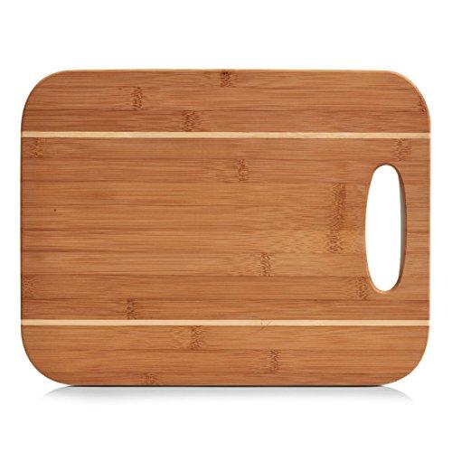 Zeller 25204–Tabla de Cortar de bambú (37,5x 29x 0.90cm, Natural
