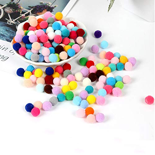 100 Pompons 10mm multicolores Mini Pom poms 1cm boules balles Craft DIY