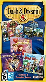 Dash & Dream Bonus 5 Pack: Diner Dash 5 Boom, Dream Chronicles 1 & 2, Avenue Flo, Hotel Dash, Wedding Dash