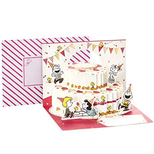 Hallmark Pop Up Peanuts Geburtstagskarte (Peanuts und Snoopy Cake)