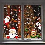 Xiangmall 12 Feuilles Stickers Noel Fenetre 291 Pièces NoëL Stickers Décoration Noël Renne Flocons de Neige Stickers pour DIY Fenêtre Noël Stickers Cuisine Chambre Fenêtres Baie Vitrée