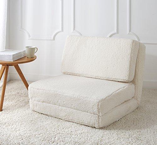 Urban Shop Convertible Flip Chair, Adult, White