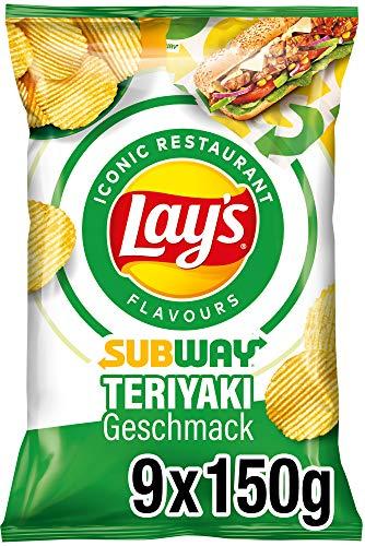 Lay's Subway Chicken Terriyaki - Knusprig gewürzte Kartoffelchips für eine gelungene Party - 9 x 150 g