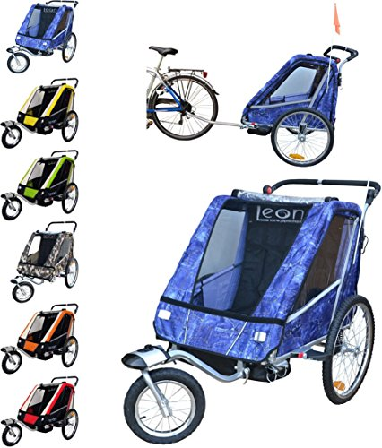 Leon paplioshop plegable bicicleta colgante Buggy con rueda delantera, para 1o 2niños, una puerta, New Jeans