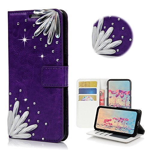 Sparkle Series - Colorful Stylish 2 Pack STENES Bling Case Compatible with iPhone 7 Plus//iPhone 8 Plus Butterfly Crown Rose Flowers Design Cover with Screen Protector 3D Handmade