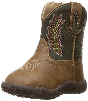Roper Boy s Arrowheads Western Boot tan 8 Toddler