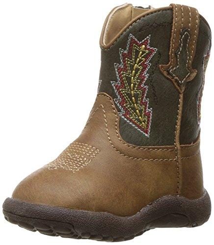 Roper Baby Boys Arrowheads Western Boot, tan, 2 Infant