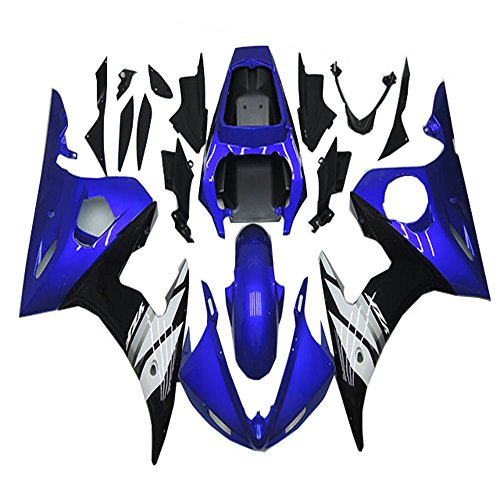 NT FAIRING Glossy Blue White Injection Mold Fairing Fit for Yamaha YZF 2003-2005 R6 & 2006-2009 R6S New Painted Kit ABS Plastic Motorcycle Bodywork Aftermarket
