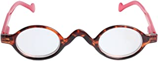 Aiweijia Cute Small Round Plastic Spring Heeled Magnifying Reading Glasses