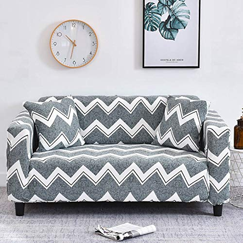 WXQY Funda de sofá Universal elástica geométrica para Sala de Estar, Funda de sofá Antideslizante elástica, Funda de sofá, Funda Protectora de Silla A11 de 2 plazas