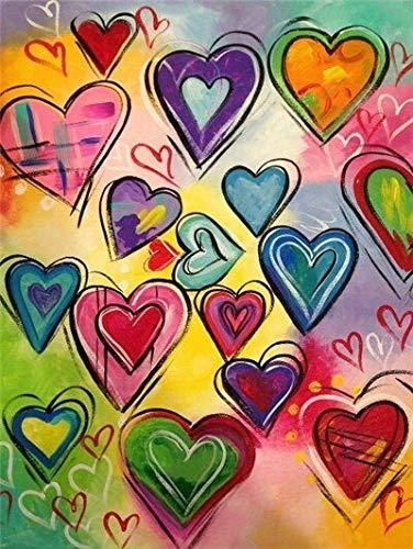 Pintar por Numeros,Paisaje de Amor 40x50cm,Pintar por Numeros para Adultos y Principiantes Pintura por números con Pinceles y Pinturas Decoración hogareña