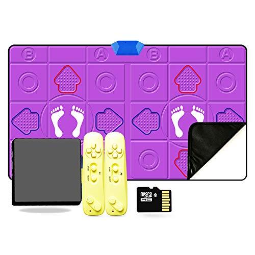 SUIBIAN Tappetino a Doppia Danza Wireless PU, Antiscivolo insonorizzante Somatosensensory Game Mat da Gioco, TV a 30 mm di Spessore TV/Computer Intrattenimento e Fitness Dual-usad e stuoia di Fitness
