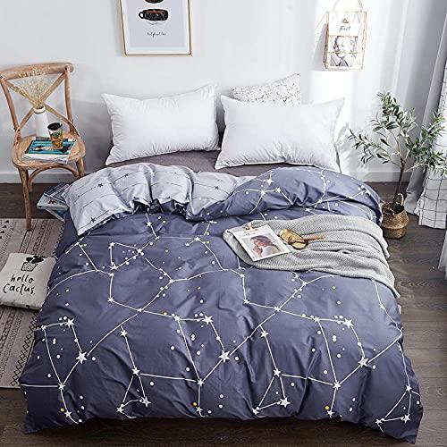 Constellation Series Juegos de Cama Azul Juegos de Edredón Funda Nórdica Cielo Estrellado Doble Individual King Queen Tamaño Completo Colecciones de Fundas de Edredón para El Hogar Tamaño King