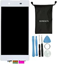 Sunways White LCD Display Touch Digitizer Screen Replacement for Sony Xperia Z3+ Z3 Plus Z4 E6553 E6533 with Device Opening Tools