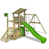 FATMOOSE Parque infantil de madera FruityForest con columpio y tobogán, Torre...