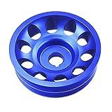 Poulie de vilebrequin de poulie de manivelle en aluminium léger pour Subaru Impreza WRX Sti Blue