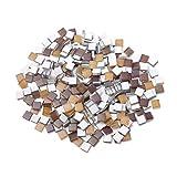 SUPVOX 300 piezas azulejos de mosaico cristal mosaico piedras azulejos de vidrio artesanía para marcos de fotos diy artesanía placas marrón