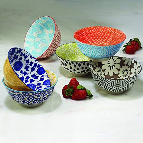 Certified International Chelsea 6.25'Bowls, Set of 6,Multicolored