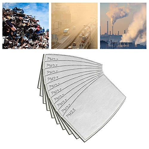 100 filtros de carbón Activo PM2.5,  5 Capas,  máscara bucal Intercambiable,  Filtro Protector bucal,  Filtro anticaída