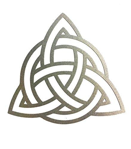 4x4' black REFLECTIVE Trinity knot symbol Triquetra Celtic culture outdoor Decal/Sticker