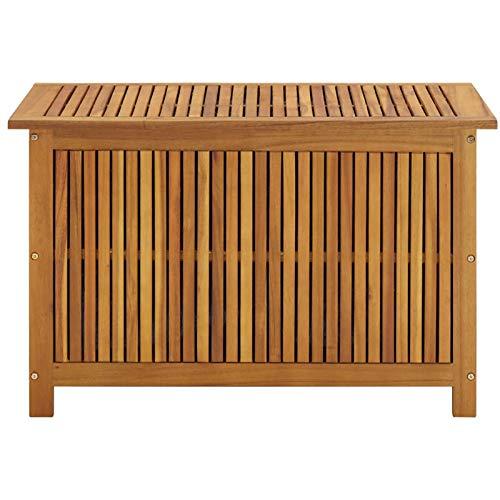 Festnight Boîte de Rangement de Jardin 90x50x106 cm Bois d'acacia Solide