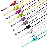 YOUKCDT 12 Stück Schlüsselband Abnehmbare Bunt Umhängeband Neck Strap Mehrzweck Handy Umhänge Lanyard Strap für Mobile Handys Schlüsselanhänger USB Karten Keys (10 Farben)