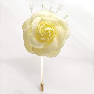 Fenglin-joys Silk Rose Men Corsage Pin Flower Wedding Bracelet for Bridesmaid White Pink Groom Boutonniere Men Wedding Wrist Bracelet Flowers,Corsage C
