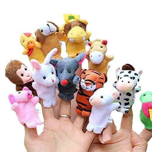 Fliyeong Premium Qualität Tier Fingerpuppe Set Spielzeug Lernspielzeug Storytelling Puppe 10 Stücke