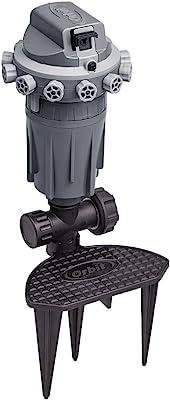 Orbit 56805 Precision Arc Gear Drive Sprinkler with Adjustable Knobs, Gray