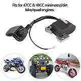 Bobina de encendido, kit de encendido de bobina de encendido universal para motocicleta apto para 47cc 49cc Minimoto ATV Bike Quad