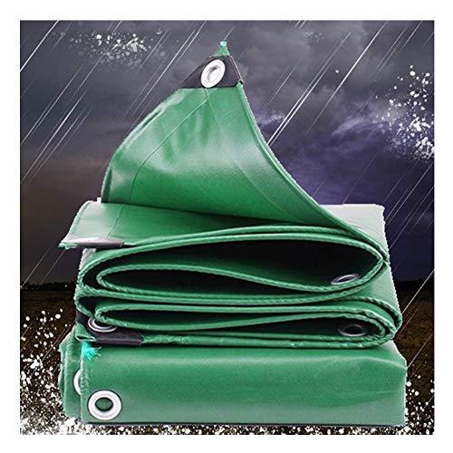 FQJYNLY Tarpaulin Thicken Flame Retardant Fireproof Cloth PVC Rainproof Tarpaulin Waterproof Sun Protection Shade Cloth Truck, 13 Sizes (Color : Green, Size : 2x3M)
