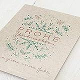 sendmoments Weihnachtskarten, blanko, Stille Nacht 2, 12er Klappkarten-Set C6, wahlweise mit Rotfolien-Veredelung, kreative Weihnachtsgrußkarten, optional mit bedruckten Design-Umschlägen