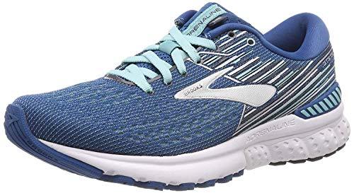Brooks Women's Adrenaline Gts 19 Running Shoes, Blue (Blue/Aqua/Ebony 417), 3.5 UK