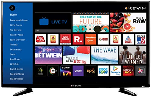 Kevin 102 cm (40 Inches) Full HD LED Smart TV KN40S (Black) (2020 Model)