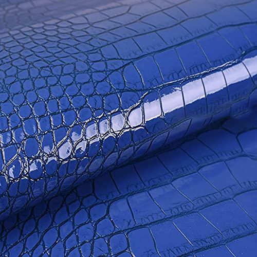MUYUNXI Polipiel Cuero Artificial De Cuero para Tapizar Sofá Polipiel Silla Manualidades Cojines 138 Cm De Ancho Vendido por Metro(Color:Azul Oscuro)
