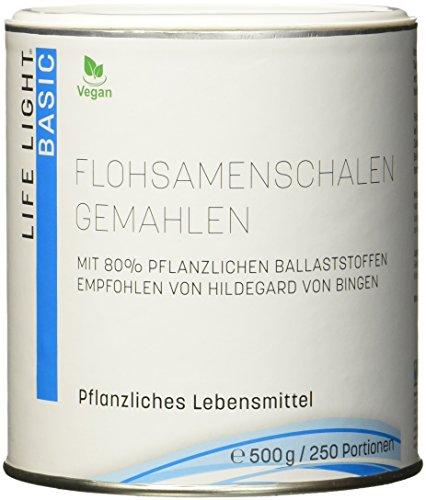 LIFE LIGHT - Flohsamenschalen gemahlen (mit 80% pflanzlichen Ballaststoffen, 500 g)
