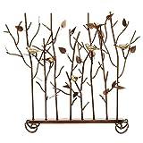 Minuteman International Birds Decorative Fireplace Summer Screen, Bronze