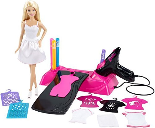 Barbie Barbie-CMM85 Aerógrafo diseños Fashion (Mattel CMM85), Multicolor, 33.0 x 32.3 x 6.6