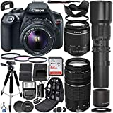 Canon EOS Rebel T6 DSLR Camera with 18-55mm & 75-300mm Canon Lenses & 500mm Lens...