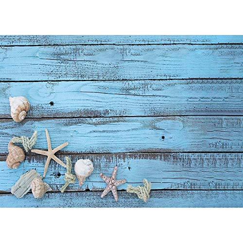 Playa Arena Estrella de mar Concha Concha Fotografía Fondos Tela Telón de Fondo Estudio fotográfico para niños Baby Shower Fotófono A14 10x7ft / 3x2.2m