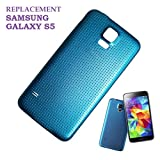 Swark Replacement Battery Door Back Cover Compatible with Samsung Galaxy S5 SM-G900 (Blue)