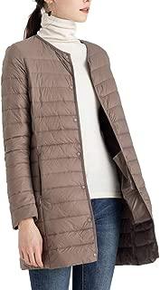 New Winter Women Down Jacket Ultra Light White Duck Down Long Coat Slim O-Neck Warm Inner Bottoming Plus Size