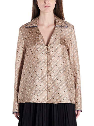 Luxury Fashion | Fendi Dames FS7246A9DRF19EK Beige Zijde Blouses | Lente-zomer 20