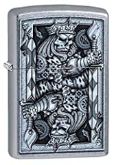 WINDPROOF: Zippo's genuine Windproof lighter have all metal construction and a windproof design that works virtually anywhere. Never struggle with a cheap lighter and weak flame again! BUILT TO LAST: Zippo's Windproof lighters are rugged, durable, an...