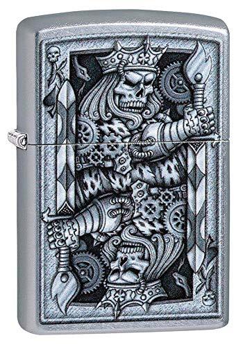 Zippo Sturmfeuerzeug Metall langlebiges besten Flüssigkeit nachfüllbar Feuerzeug perfekt für Zigaretten Zigarren Kerzen Taschenfeuerzeug Feuerstarter Spade, Steampunk King Spaten, Regular