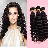 Fantasy Virgin Hair, Brazilian Virgin Body Beach Wave Hair- Wave Weft 3 Bundles 100% Unprocessed Human Hair Weave Remy Wavy Wholesale Products (26 28 30)