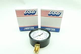 LOT of 2 USG 163196 Pressure Gauge 2-1/2IN 1/4IN NPT 0-100PSI