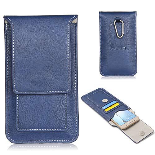 Universal-Handy-Holster für iPhone SE 2020, 11 Pro, XS, X, 8, 7, 6S, Leder, Gürteltasche mit Clip, für Samsung Galaxy S3/S4/S6/S7/S6Edge/S10e