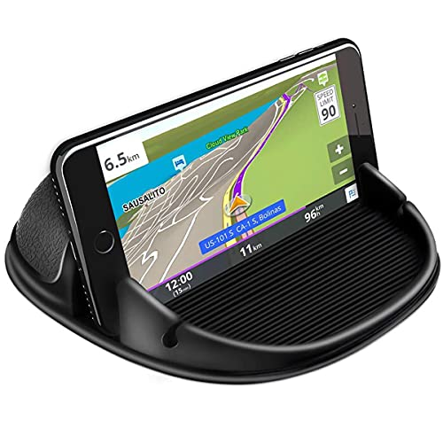 XCLUSY Mobile Mount Silicone Slip Free Phone Holder for Car Dashboard Compatible with iPhone, Samsung, Android Smartphones, GPS Devices and More