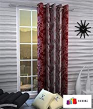 Home Ready 1 Piece Eyelet Polyester Long Door Curtain Set-Size-6 feet Long,Maroon